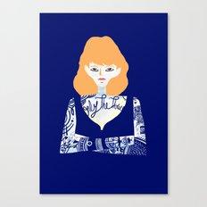Rehead with tatoo 01 Canvas Print