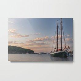 Maine Coast Sunset Metal Print