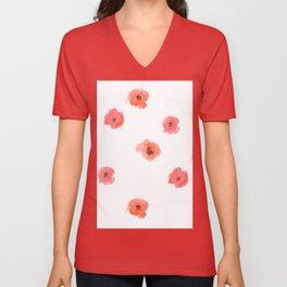 Poppy Pattern 1 Unisex V-Neck