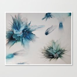 floating florals Canvas Print