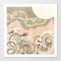 wave scape Canvas Print