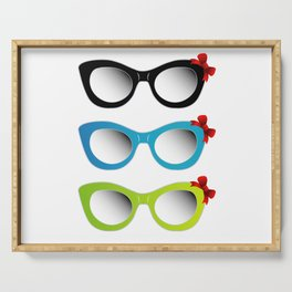 Fashion sunglasses accessory sun glasses spectacles plastic frame goggles modern eyeglasses with red Serving Tray