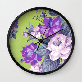 Saturated Vintage Floral Wall Clock