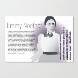 STEM Women 05 - Emmy Noether Canvas Print