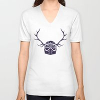 into the wild V-neck T-shirts featuring wild by The Junkers