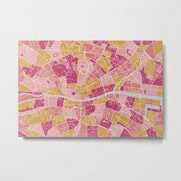 Colorful Dublin map Metal Print
