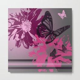 Pretty Little Butterflies - Digital Art Metal Print
