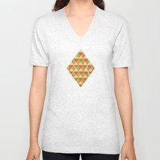 Triangle Diamond Grid Unisex V-Neck