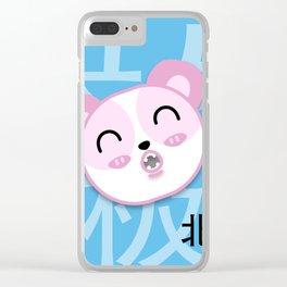 Happy Polar Bear Clear iPhone Case