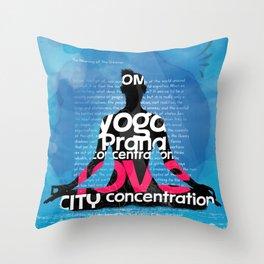 CITY YOGA BOOK Throw Pillow