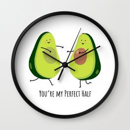 Your'e my perfect half Wall Clock