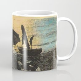Waikiki Beach Picnic at Sunset Hawaii Coffee Mug