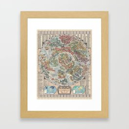 The Map of Literature || Map, Books, Literature Framed Art Print