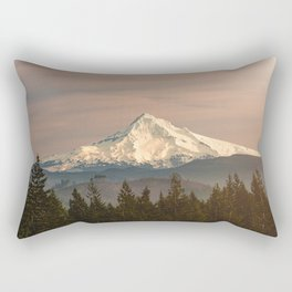 Mount Hood Vintage Sunset - Nature Landscape Photography Rectangular Pillow