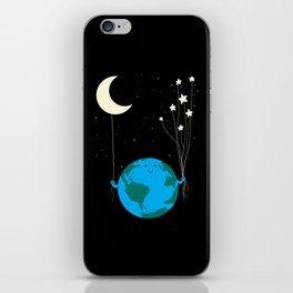 Under the moon and stars iPhone Skin