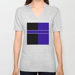 Team Colors 6...Blue,black Unisex V-Neck