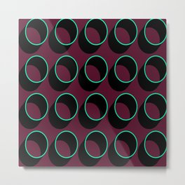 Tubes on Burgundy Metal Print