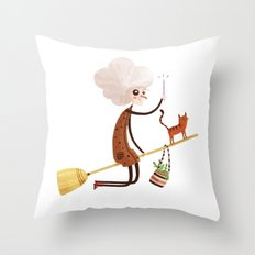 A WITCH Throw Pillow
