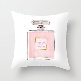 Pink Parfum Throw Pillow