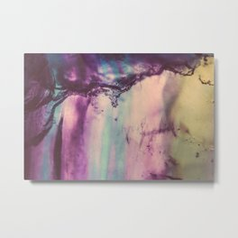 Purple Fluorite from our Earth Metal Print