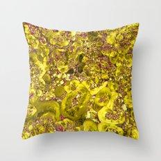 Marble Solar Gold Throw Pillow