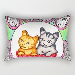 Watercolor Doodle Art | Cats! Rectangular Pillow