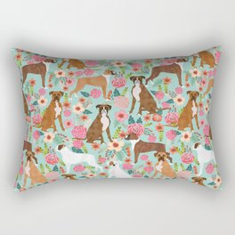 Boxer floral dog breed gifts for boxer lovers pet florals boxers must haves Rectangular Pillow