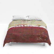 Buffalo Indian Red Burgundy Modern Abstract Art Comforters