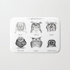 Caffeinated Owls Bath Mat