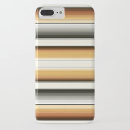 Navajo White, Gray, Black and Amber Brown Southwest Serape Blanket Stripes iPhone Case