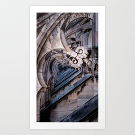 Repitition at the Milan Duomo Art Print