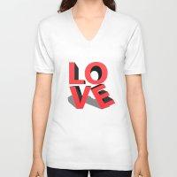 kiss V-neck T-shirts featuring kiss by mark ashkenazi