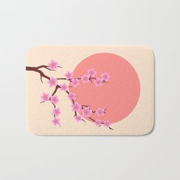 spring sakura and sun Bath Mat