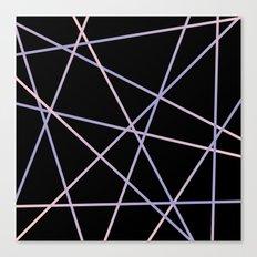 Rose Quartz & Serenity on Black Canvas Print
