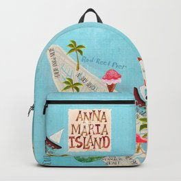 Anna Maria Island Map Backpack