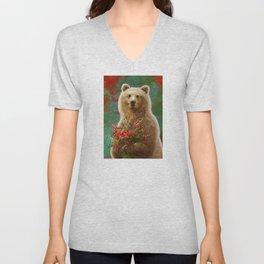 03. Christmas Bear Unisex V-Neck