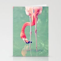 flamingos Stationery Cards featuring Flamingos  by Laura Ruth
