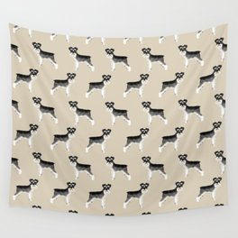 Schnauzer minimal basic dog art pattern design perfect gifts for schnauzers dog breed Wall Tapestry