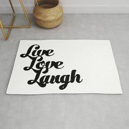 Live Love Laugh Rug