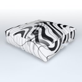 Piano keyboard for abstract music Outdoor Floor Cushion