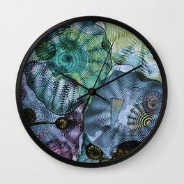 Glass in Blue Wall Clock