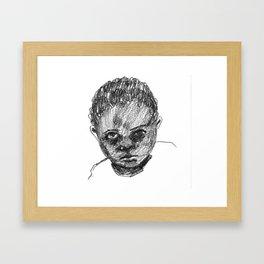Once Children Framed Art Print