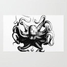 Cool Aqua animal Octopus sketch Rug
