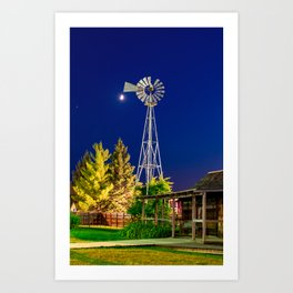 Carlton County Fair Windmill Art Print