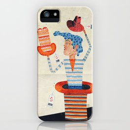 indecision between hats iPhone Case