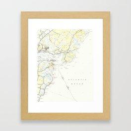 Vintage Map of Kittery Maine (1944) Framed Art Print