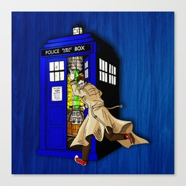 Blue tardis 02 Canvas Print