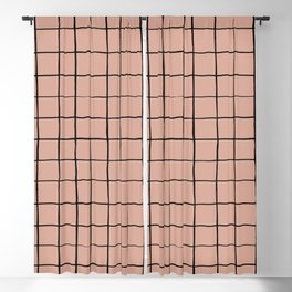 BASIC   Criss Cross Rose Blackout Curtain