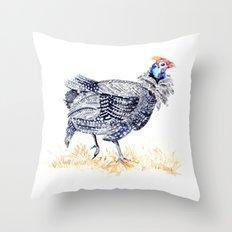 Guineafowl Throw Pillow