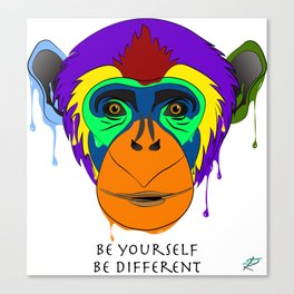 Be yourself, be different - chimpanzee Canvas Print